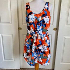 Gap Floral Linen Blend Dress Large
